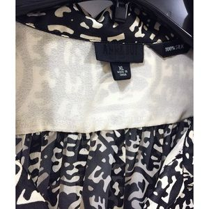 ca86aa23f0aa2d Anna Sui Tops - ANNA SUI Silk Floral Puff Sleeve Blouse XL